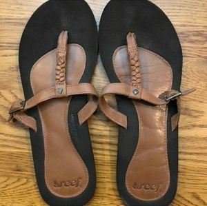 Reef Redemption Leather Sandals Size 9